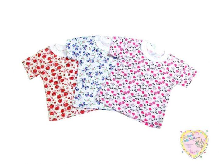 Футболка с цветами для девочки C-FT025(2)-SU (супрем)