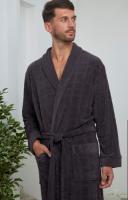 Облегченный бамбуковый мужской халат Alan антрацит , Five Wien