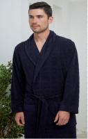 Облегченный бамбуковый мужской халат Alan синий , Five Wien