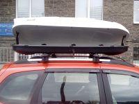 Автомобильный бокс на крышу Nobu Cross, 380 литров, белый текстурный
