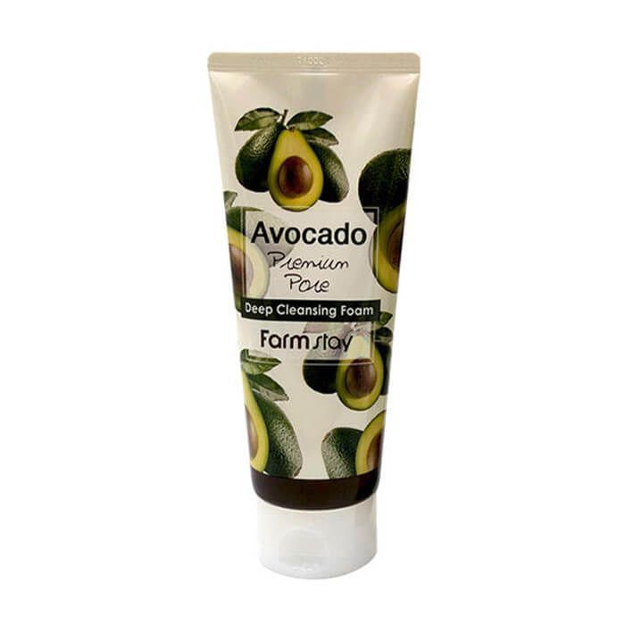 Пенка для глубокого очищения с маслом авокадо FarmStay Avokado Premium 180 мл