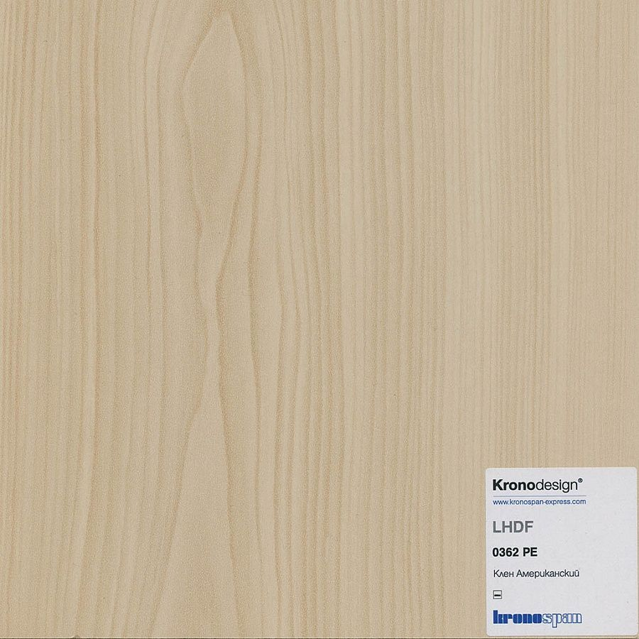 ЛХДФ Клён Американский PE 2800*2070*3,2 мм