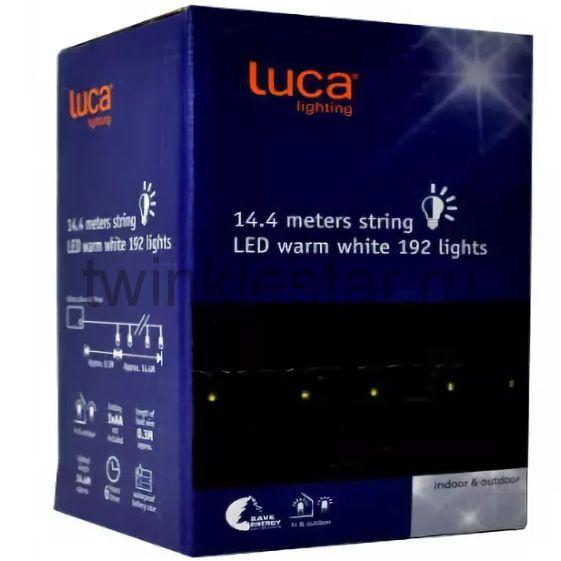 Светодиодная гирлянда на батарейках с таймером Luca lights 14,4 метра