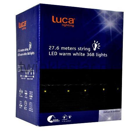 Светодиодная гирлянда на батарейках с таймером (теплый свет) Luca lights 27, 6 метров