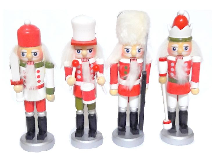 Щелкунчик - набор деревянных ёлочных игрушек 4 шт IR-41