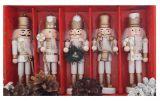 Щелкунчик - набор деревянных ёлочных игрушек 5 шт IR33