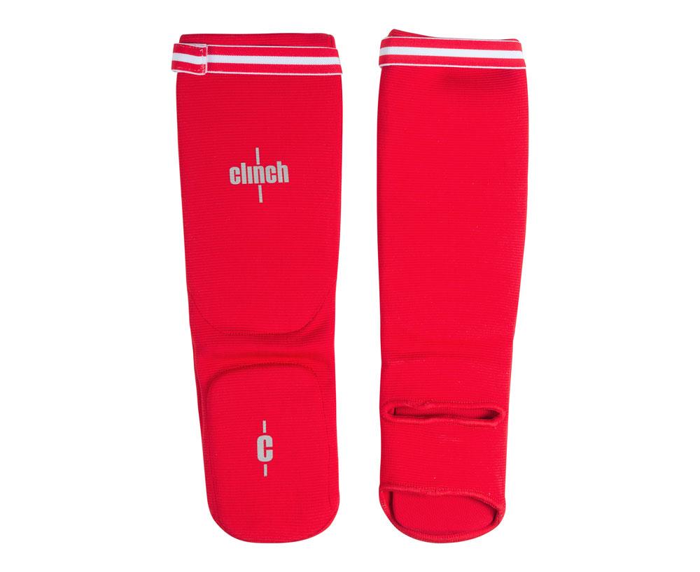 Защита голени и стопы Clinch Shin Instep Protector красная, размер L, артикул C508