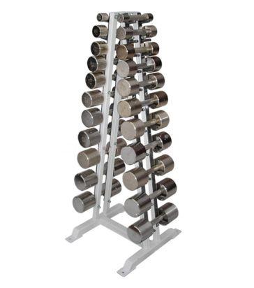 ГФ-006 Гантельный ряд хромированный, от 2 до 16кг (12пар)