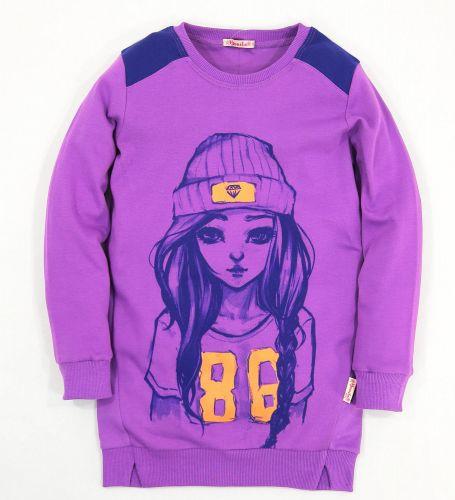 Туника для девочек 7-10 лет Bonito фиолетовая