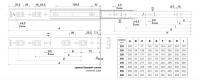 Шариковые направляющие 350 мм DB4501Zn/350