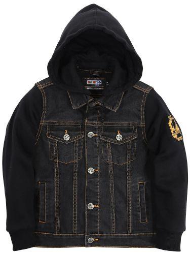 Куртка джинсовая для мальчиков 7-11 лет Bonito Jeans черный