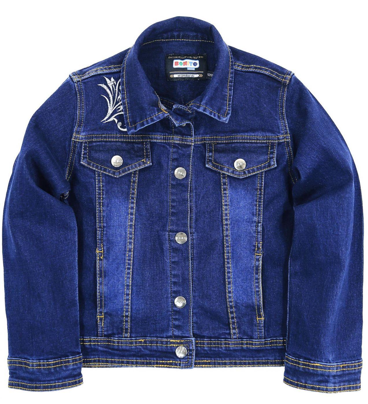 """Пиджак джинсовый Bonito Jeans """"ornament"""" синий"""