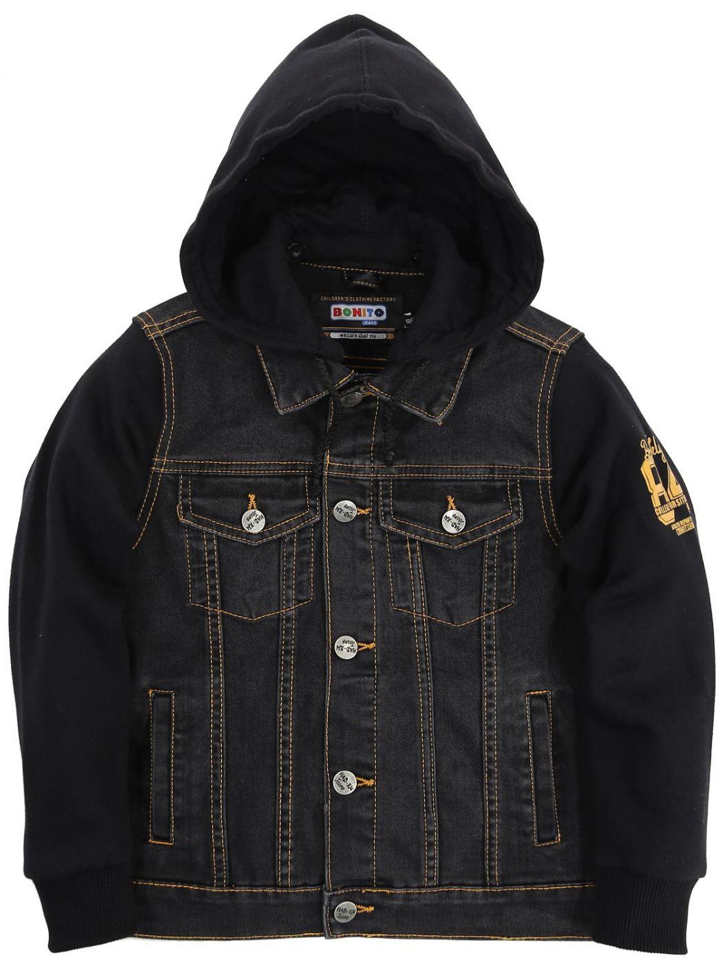 Куртка джинсовая с капюшоном Bonito Jeans Black