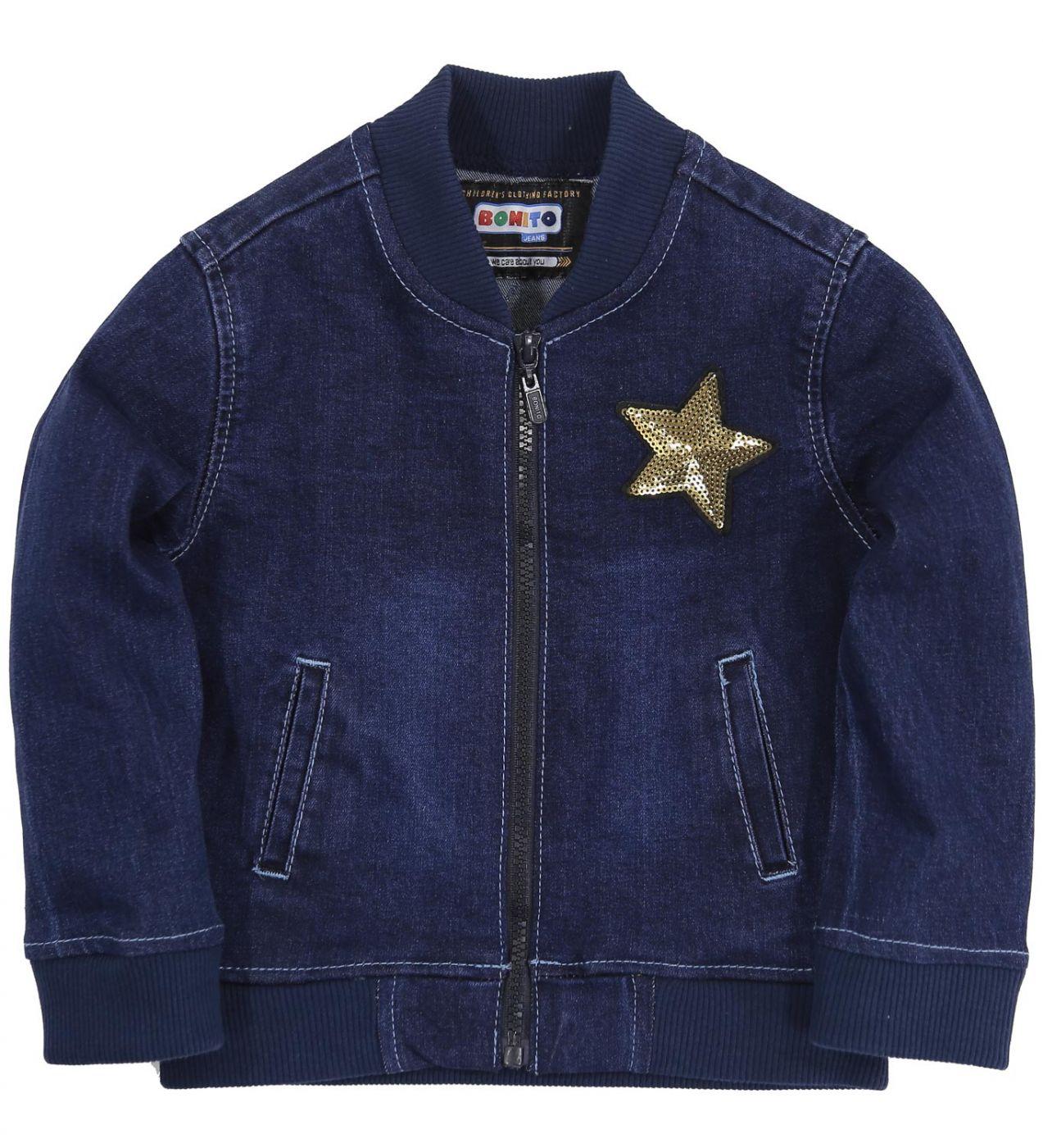 "Джинсовый бомбер Bonito Jeans ""star"""