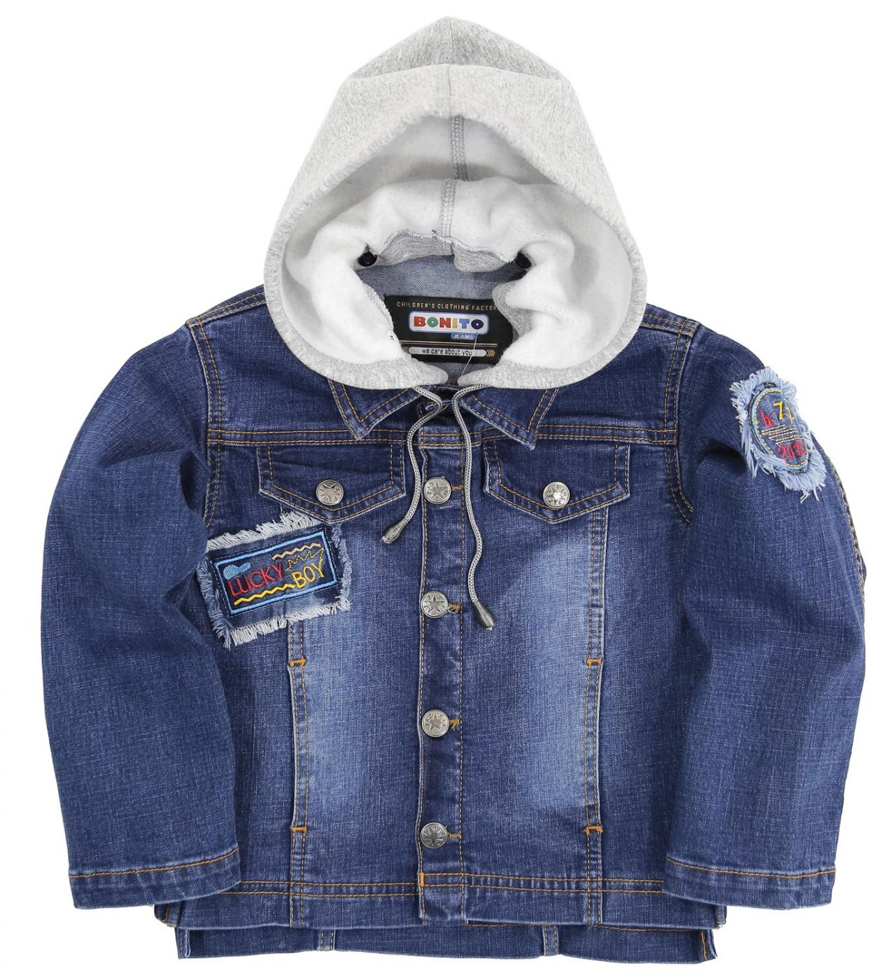 "Джинсовая куртка Bonito Jeans ""Lucky Boy"" gray"