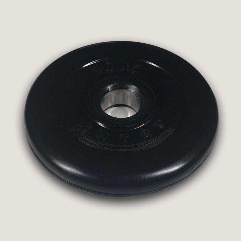 АН-10 Диск «Антат» тренировочный обрезиненный 10 кг, посадочный диаметр 26, 31, 51 мм