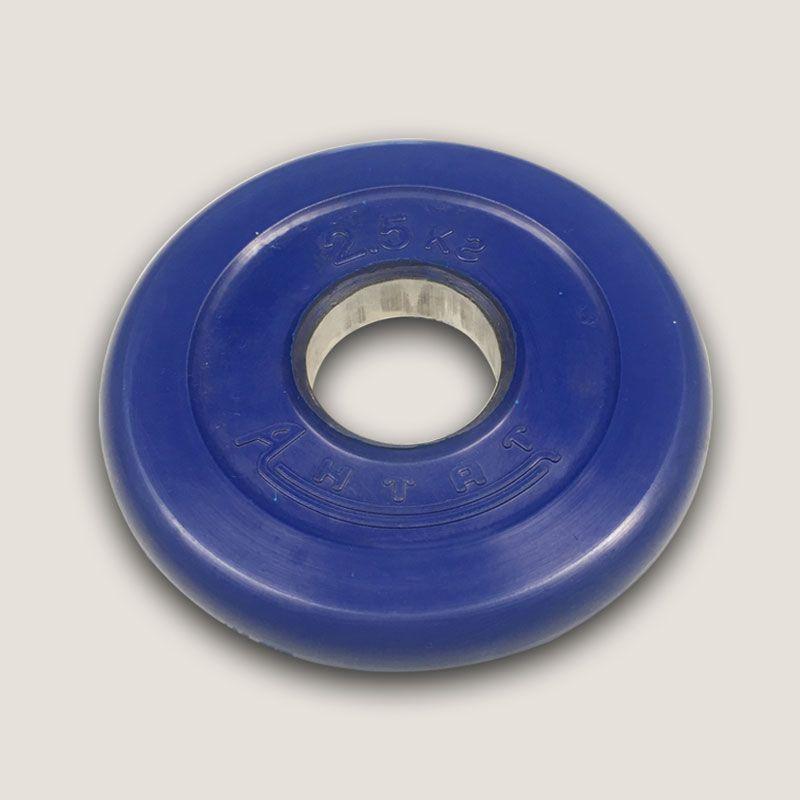 АНц-2,5 Диск «Антат» цветной обрезиненный 2,5 кг, посадочный диаметр 26, 31, 51 мм