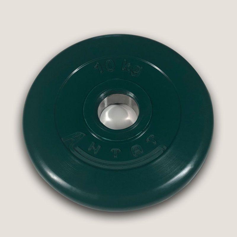 АНц-10 Диск «Антат» цветной обрезиненный 10 кг, посадочный диаметр 26, 31, 51 мм