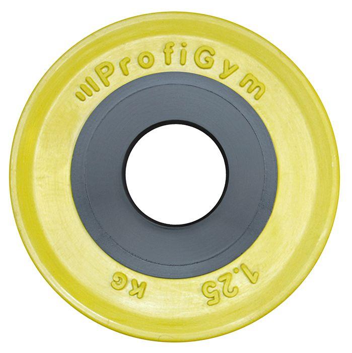 Диск для штанги олимпийский 1,25 кг желтый