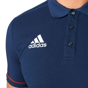 Футболка-поло adidas Tiro 17 Cotton Polo тёмно-синяя
