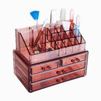 Акриловый органайзер для косметики Multi-Functional Storage Box QFY-3112, цвет бордовый (1)