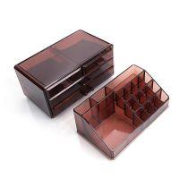 Акриловый органайзер для косметики Multi-Functional Storage Box QFY-3112, цвет бордовый (5)