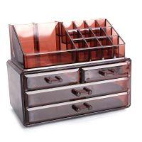 Акриловый органайзер для косметики Multi-Functional Storage Box QFY-3112, цвет бордовый (4)