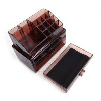 Акриловый органайзер для косметики Multi-Functional Storage Box QFY-3112, цвет бордовый (6)