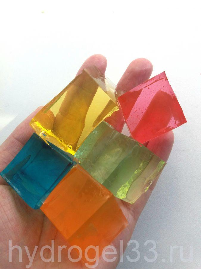 Гидрогелевые кубики разноцветные (25 шт)