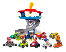 Игровой набор из 9 героев с машинками + Большой офис Щенячий патруль Секретная миссия Джунгли