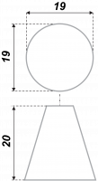 Мебельная ручка круглая RC012SC.4