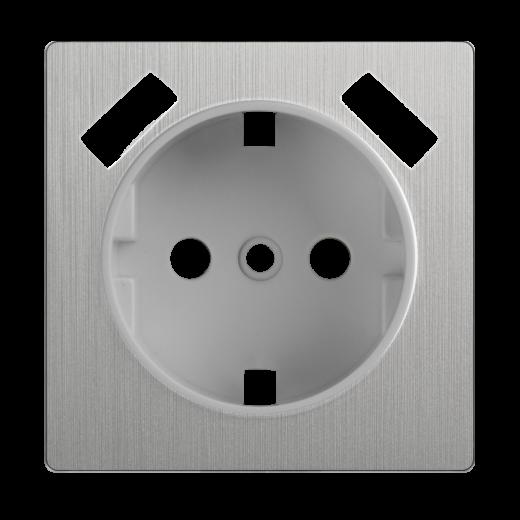 Накладка для USB розетки WL09-USB-CP серебряный рифленый