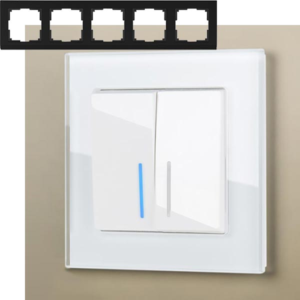 Рамка на 5 постов Werkel WL01-Frame-05 Белый