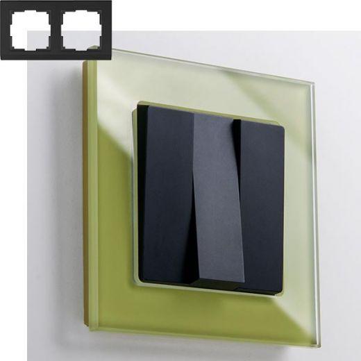 Рамка на 2 поста Werkel WL01-Frame-02 Фисташковый