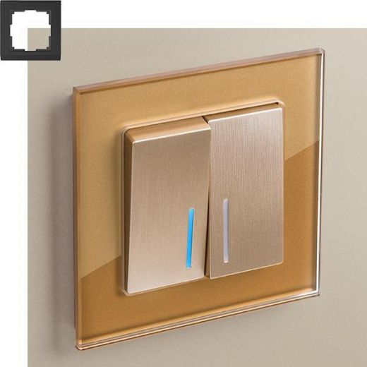 Рамка на 1 пост Werkel WL01-Frame-01 Бронза