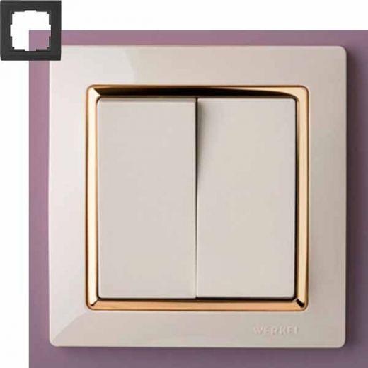 Рамка на 1 пост Werkel WL03-Frame-01-ivory-GD Слоновая кость / золото