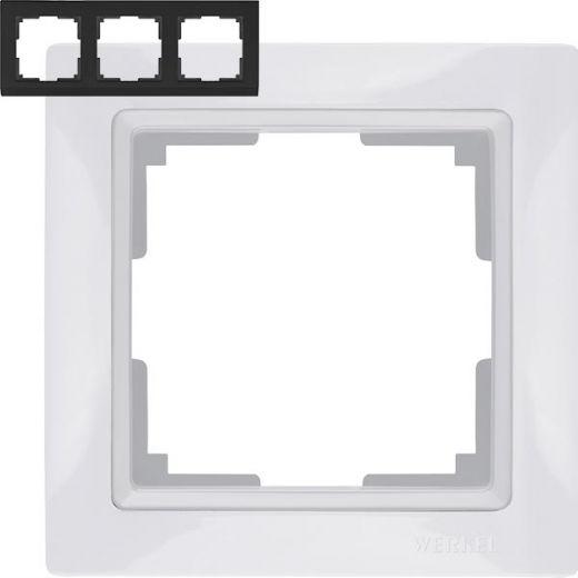 Рамка на 3 поста Werkel WL03-Frame-03 Basic Белый