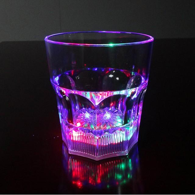Светящийся стакан для виски восьмиугольный Bubble Rocks