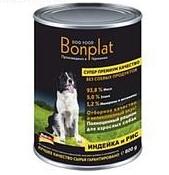 Bonplat Dog Food Premium консервы для собак Индейка и рис 800г