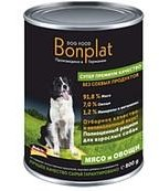 Bonplat Dog Food Premium консервы для собак Мясо и овощи 800г