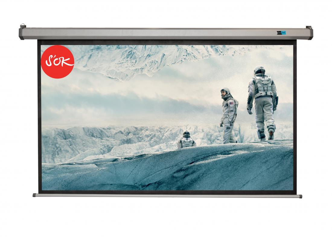 Экран S'OK SCPSM-250x140FG-GR