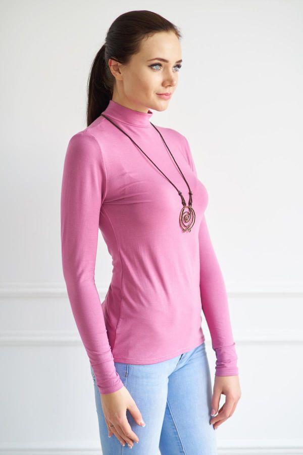 Водолазка женская арт.0112-48 пепельно-розовая, вискоза
