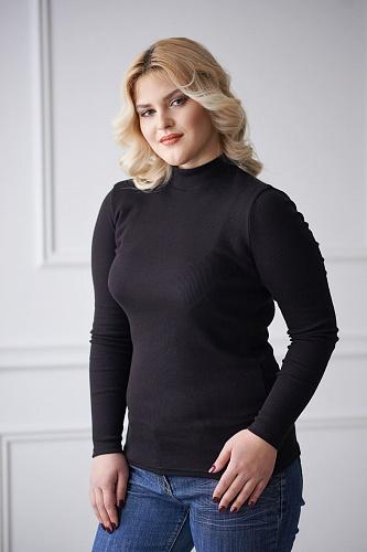 Водолазка женская арт.0114 черная, кашкорсе