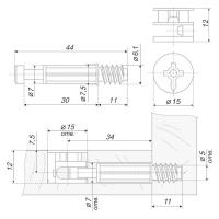 Стяжка B-fix ST01/51/6/RdZn/01