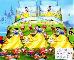 Детское постельное белье 1,5 сатин ПД010