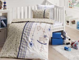 Комплект постельного белья First Choice Bamboo детское 019-PALMY LACIVERT