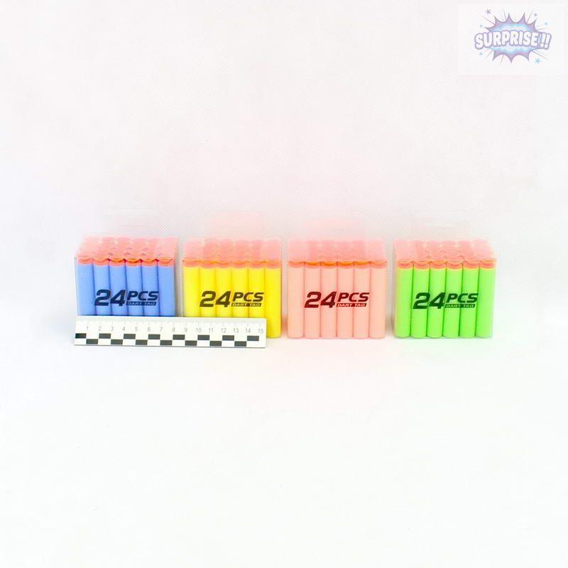 Пули мягкие набор (упаковка 24шт)(№17024B)