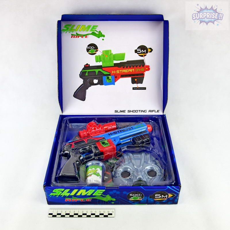 Пистолет набор Бластер Slime Rifle (стреляет лизуном)(№CH356)