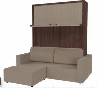 Шкаф-диван-кровать трансформер СМАРТ-1 КД + пуф