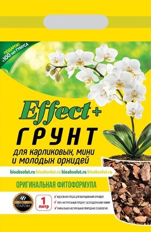 Грунт для мини орхидей Effect+  1л (+ биогумус)